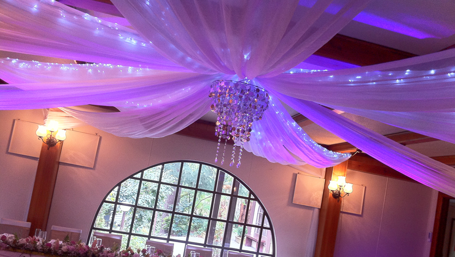 how to make ceiling drapes for weddings