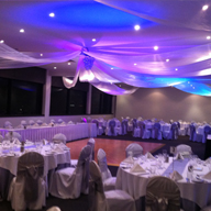 Backdrop & Ceiling Drape Decor - YouTube