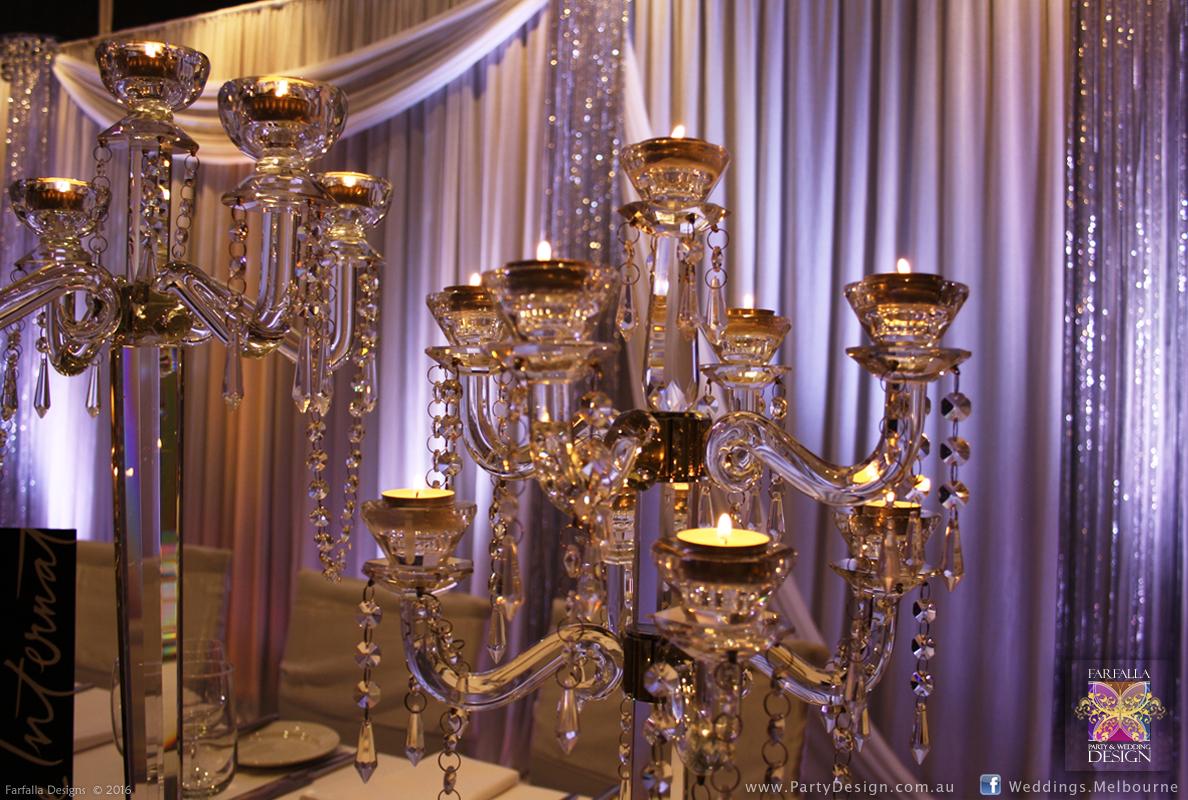 Wedding backdrops and flower wall melbourne affordable designer crystal candelabra arubaitofo Choice Image